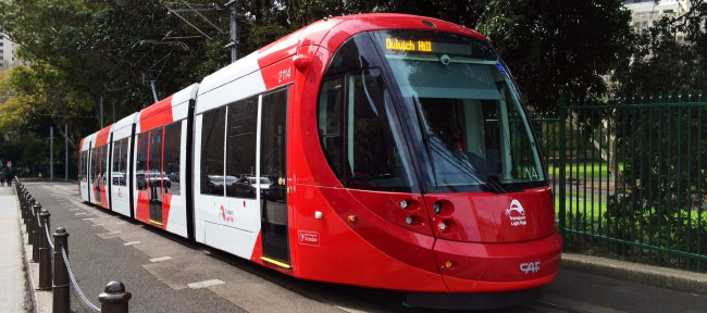 Sydney Light Rail – CBD and South East